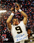 "Football Collectibles:Photos, Drew Brees ""SB XLIV MVP"" Signed Oversized Photograph...."