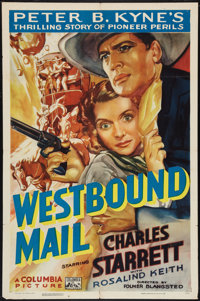 "Westbound Mail (Columbia, 1937). One Sheet (27"" X 41""). Western"