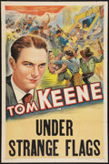 "Movie Posters:Miscellaneous, Tom Keene Stock (Crescent Pictures, 1937). Stock One Sheet (27"" X 41"") ""Under Strange Flags."" Western.. ..."