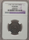 Colonials, (1785) COPPER Bar Copper--Corroded--NGC Details. VF. Breen-1145,W-8520, R.4....