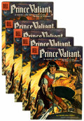 Silver Age (1956-1969):Adventure, Four Color #699 Prince Valiant - Circle 8 pedigree Group (Dell, 1956) Condition: Average VF.... (Total: 5 Comic Books)