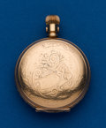 Timepieces:Pocket (post 1900), Hampden 6 Size Gold Filled Hunters Case. ...