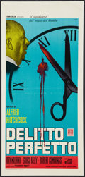 "Movie Posters:Hitchcock, Dial M For Murder (Warner Brothers, R-1970). Italian Locandina (13""X 27.5""). Hitchcock.. ..."