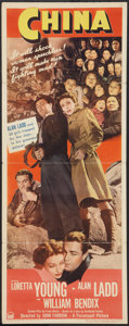 "Movie Posters:War, China (Paramount, 1943). Insert (14"" X 36""). War.. ..."