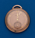 Timepieces:Pocket (post 1900), Bulova Rose Gold Filled 12 Size. ...