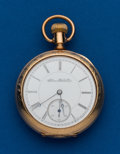 Timepieces:Pocket (pre 1900) , Illinois Early 16 Size Gold Filled Open Face. ...