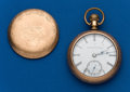 Timepieces:Pocket (post 1900), Elgin 18 Size Gold Filled Pocket Watch. ...