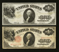 Fr. 37 and 38 $1 1917 Legal Tender Notes