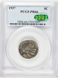 Proof Buffalo Nickels: , 1937 5C PR66 PCGS. CAC. PCGS Population (730/387). NGC Census:(471/363). Mintage: 5,769. Numismedia Wsl. Price for problem...