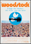 "Movie Posters:Rock and Roll, Woodstock (Warner Brothers, 1970). German A1 (23"" X 33""). Rock andRoll.. ..."