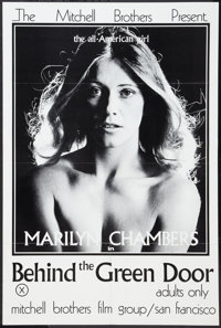 """Behind the Green Door (Mitchell Brothers Film Group, 1972). Poster (24"""" X 36""""). Adult"""