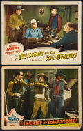 "Movie Posters:Western, Sheriff of Tombstone Lot (Republic, 1941). Lobby Cards (2) (11"" X 14""). Western.. ... (Total: 2 Items)"