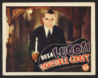 "Invisible Ghost Lot (Monogram, 1941). Lobby Cards (4) (11"" X 14"") and One Sheet (27"" X 41""). Horror..."