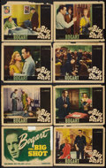 "Movie Posters:Crime, The Big Shot (Warner Brothers, 1942). Lobby Card Set of 8 (11"" X14""). Crime.. ... (Total: 8 Items)"