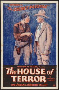 """The House of Terror (William Pizor, 1928). One Sheet (27"""" X 41"""") and Pressbook (14"""" X 22""""). Episode..."""