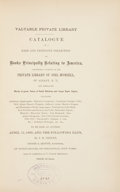 Books:First Editions, [Book Auction Catalog]. [Joel Munsell]. J. E. Cooley. ValuablePrivate Library. Catalogue of a Rare and Extensive ...