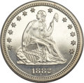 Proof Seated Quarters, 1882 25C PR66 Cameo PCGS. CAC....