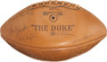 Football Collectibles:Balls, 1964 Green Bay Packers Team Signed Football (30+ Signatures)....