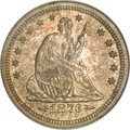 Seated Quarters, 1873-S 25C Arrows MS62 NGC. CAC....