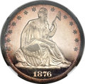 Proof Seated Half Dollars, 1876 50C PR65 Cameo NGC. WB-101....