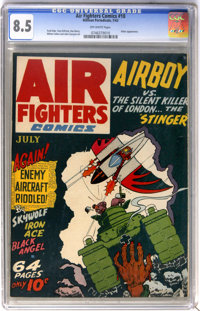Air Fighters Comics #10 (Hillman Fall, 1943) CGC VF+ 8.5 Off-white pages
