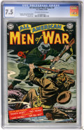 Golden Age (1938-1955):War, All-American Men of War #9 (DC, 1954) CGC VF- 7.5 Off-white towhite pages....