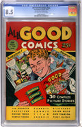 Golden Age (1938-1955):Adventure, All Good Comics #nn (Fox, 1944) CGC VF+ 8.5 Off-white to white pages....