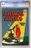 Golden Age (1938-1955):Funny Animal, Animal Antics #1 Carson City pedigree (DC, 1946) CGC VF 8.0Off-white to white pages....