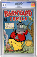 Golden Age (1938-1955):Funny Animal, Barnyard Comics #7 Vancouver pedigree (Nedor Publications, 1945)CGC NM 9.4 White pages....