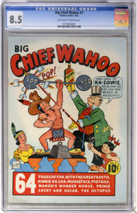 Big Chief Wahoo #1 (Eastern Color, 1942) CGC VF+ 8.5 Off-white to white pages