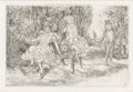 Prints:American, JOHN SLOAN (American, 1871-1951). The Donkey Ride, 1903.Etching, published by The Frederick J. Quinby Company. 3-1/2in....(Total: 1 Item)