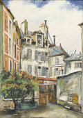 Fine Art - Painting, European:Other , ARTIST UNKNOWN (Twentieth Century). Rue du Jardinet. Oil onwood panel. 27-1/4in. x 18-3/4in.. Signed and titled indisti...(Total: 1 Item)