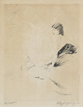 Prints:American, WILLIAM ANDREW POGANY (American, 1882-1955). Seated Nude.Etching, ed. 34/100. 9in. x 7in.. Signed in pencil at lower ri...(Total: 1 Item)