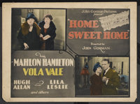 "Home Sweet Home (John Gorman Pictures, 1926). Title Lobby Card (11"" X 14""). Drama"