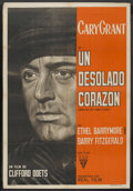 """Movie Posters:Drama, None But The Lonely Heart (RKO, 1944). Argentinean Poster (29"""" X 43""""). Drama. ..."""