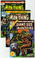 Bronze Age (1970-1979):Horror, Man-Thing #1-6 Group Plus (Marvel, 1974) Condition: AverageVF/NM.... (Total: 7 Comic Books)