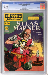Classics Illustrated #55 Silas Marner First Edition - Vancouver pedigree (Gilberton, 1949) CGC NM- 9.2 White pages