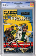 Golden Age (1938-1955):Classics Illustrated, Classics Illustrated #58 The Prairie First Edition - Vancouver pedigree (Gilberton, 1949) CGC VF/NM 9.0 White pages....