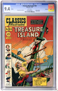 Golden Age (1938-1955):Classics Illustrated, Classics Illustrated #64 Treasure Island First Edition - Vancouverpedigree (Gilberton, 1949) CGC NM 9.4 White pages....