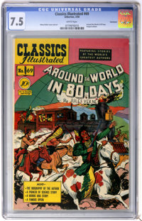 Classics Illustrated #69 Around the World in 80 Days First Edition - Vancouver pedigree (Gilberton, 1950) CGC VF- 7.5 Wh...