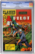 Golden Age (1938-1955):Adventure, Classics Illustrated #70 The Pilot First Edition - Vancouver pedigree (Gilberton, 1950) CGC NM 9.4 White pages....