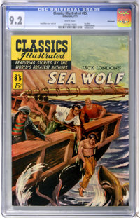 Classics Illustrated #85 Sea Wolf First Edition - Vancouver pedigree (Gilberton, 1951) CGC NM- 9.2 White pages
