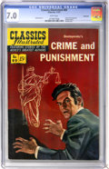 Golden Age (1938-1955):Classics Illustrated, Classics Illustrated #89 Crime and Punishment First Edition -Vancouver pedigree (Gilberton, 1951) CGC FN/VF 7.0 White pages....