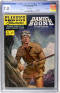Golden Age (1938-1955):Classics Illustrated, Classics Illustrated #96 Daniel Boone First Edition - Vancouverpedigree (Gilberton, 1952) CGC FN/VF 7.0 White pages....