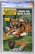Golden Age (1938-1955):Classics Illustrated, Classics Illustrated #104 Bring 'Em Back Alive First Edition -Vancouver pedigree (Gilberton, 1953) CGC VF+ 8.5 White pages....