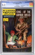 Golden Age (1938-1955):Classics Illustrated, Classics Illustrated #107 King of the Khyber Rifles First Edition -Vancouver pedigree (Gilberton, 1953) CGC VF+ 8.5 White pag...