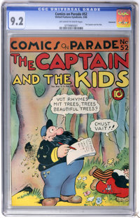 Comics On Parade #52 The Captain and the Kids - Vancouver pedigree (United Features Syndicate, 1946) CGC NM- 9.2 Off-whi...