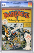 Golden Age (1938-1955):Superhero, Daredevil Comics #13 (Lev Gleason, 1942) CGC VF 8.0 Cream to off-white pages....