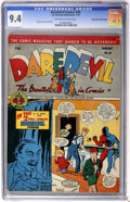 Golden Age (1938-1955):Superhero, Daredevil Comics #40 Mile High pedigree (Lev Gleason, 1947) CGC NM 9.4 Off-white to white pages....