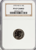 Proof Roosevelt Dimes: , 1970 10C No S PR67 Cameo NGC. NGC Census: (8/24). PCGS Population(19/31). Numismedia Wsl. Price for problem free NGC/PCGS...